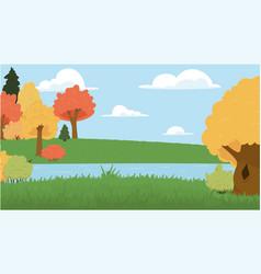 landscape park cartoon vector image