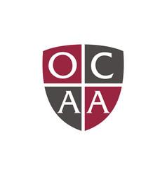 Letter ocaa advocate vector