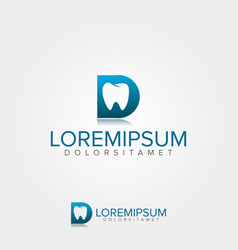 medical dental logo template vector image