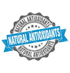 Natural antioxidants stamp sign seal vector