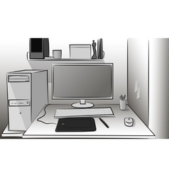 Operating a computer vector image
