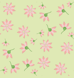ornament of pink flowers vector image