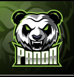 Panda head mascot logo design vector