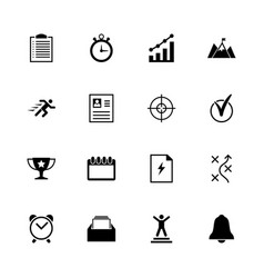 planing organization - flat icons vector image