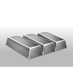 Platinum ingots isolated vector image