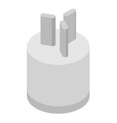 Power plug icon isometric style vector