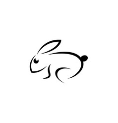 rabbit logo template vector image