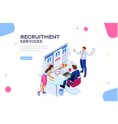 recruitment presentation template vector image