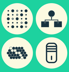 Robotics icons set collection of mainframe hive vector