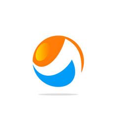 round sphere technology logo vector image
