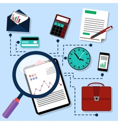 Routine business objects concept vector image
