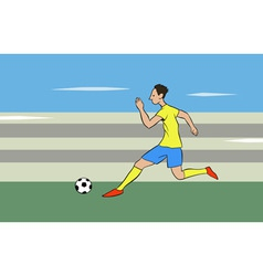 running with the ball vector image