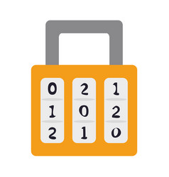 Safety lock with number password icon image vector