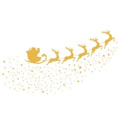 santa gold vector image