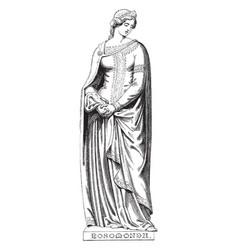 Sculpture was mistress king henry ii of vector
