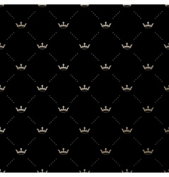 Seamless gold pattern with king crowns vector image