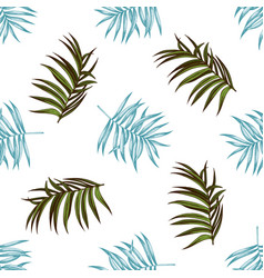 seamless pattern with hand drawn pastel tropical vector image