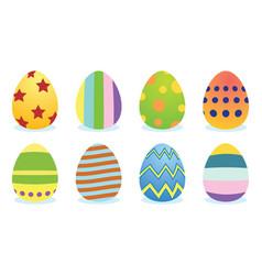 set easter eggs vector image