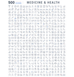 Set line icons medicine and health vector