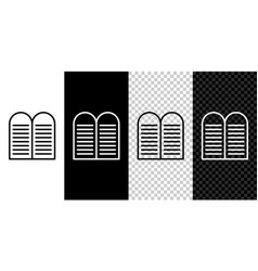 Set line the commandments icon isolated on black vector