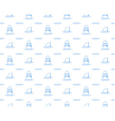 shark seamless pattern hand drawn sketched doodle vector image