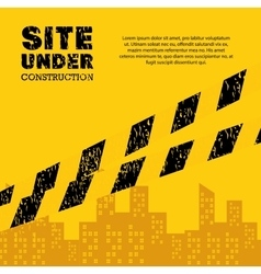 Site under construction industrail sign vector
