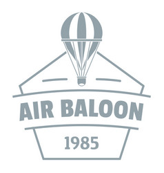 Sky air balloon logo simple gray style vector