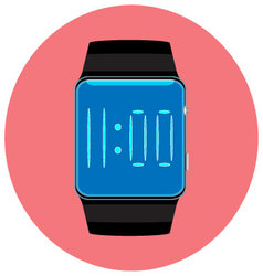 Smart watch icon flat isolated vector image