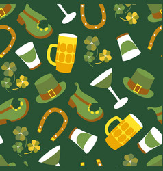 st patricks day design of elements vector image vector image