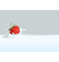 Strawberry in liquid vector image