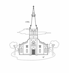 structure of a church vector image