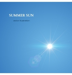 summer sun sky background vector image