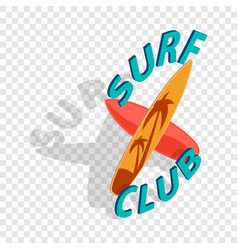 Surf club isometric icon vector