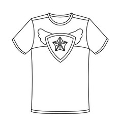 t-shirt fan with printfans single icon in outline vector image