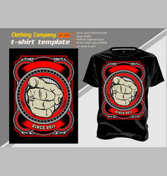 t shirt template human hand with finger vector image