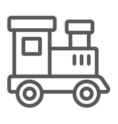 train toy line icon child and railroad vector image