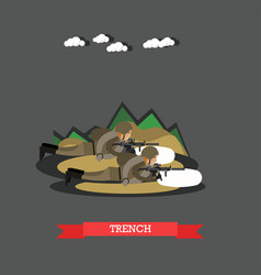 trench concept in flat style vector image