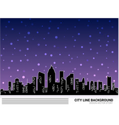 urban cityscape winter night vector image