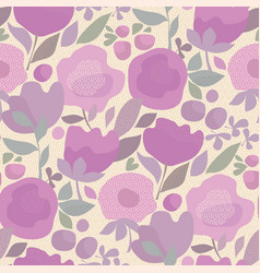 violet color boho style floral seamless pattern vector image