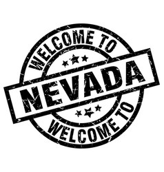 Welcome to nevada black stamp vector
