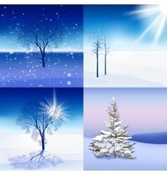 Winter Landscape set vector image