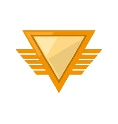yellow shield winged shape triangle geometric vector image