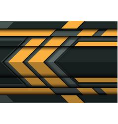 abstract yellow arrow on gray metal 3d vector image vector image