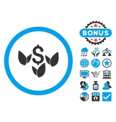 Agriculture Startup Flat Icon with Bonus vector image
