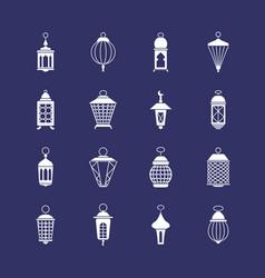 antique arabic ramadan light lanterns muslim vector image vector image