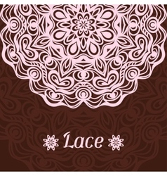 Background with hand drawn ornamental round lace vector image vector image