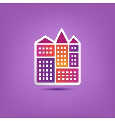 building icon logo city houses composition vector image vector image