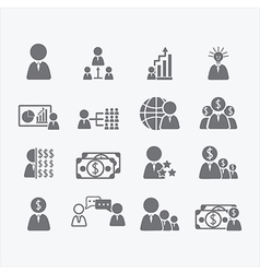Business Human icons vector image vector image