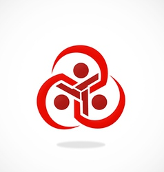 circle curve abstract group logo vector image