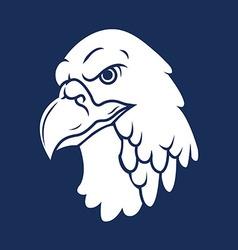 Eagle Head Silhouette vector image vector image